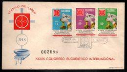 COLOMBIA- KOLUMBIEN - 1968.FDC/SPD. XXXIX  INTERNATIONAL EUCHARISTIC CONGRESS - Colombia