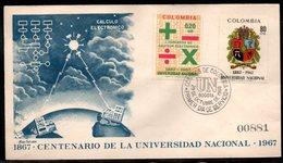 COLOMBIA- KOLUMBIEN - 1968.FDC/SPD. 100 YEARS OF NATIONAL UNIVERSITY OF COLOMBIA - Kolumbien
