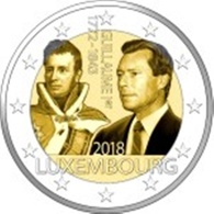 Luxemburgo 2euro Cc -175º Aniv Duque Guillaume I - 2018 UNC - Luxembourg