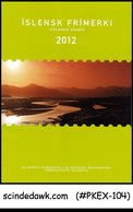 ICELAND - 2012 COMPLETE YEAR STAMPS IN A SPECIAL FOLDER - Maximum Cards