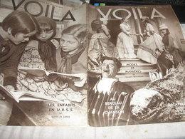 VOILA/ TIR A L ARC//CARTEL CACHIN TARDIEU /ENFANTS U.R.S.S /GALAPAGOS MARCEL AYME /CHANSON SCOTTO PINELLADA DANIDERFF PE - Livres, BD, Revues