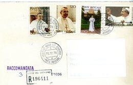 °°° Raccomandata Affrancata Con Serie Papa Giovanni Paolo 1° °°° - Lettres & Documents