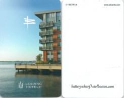 Hotelkarte, Room Key Card, Sleutelkaart, Clef De Hotel, Battery Wharf Hotel, Boston Waterfront-1786 - Cartes D'hotel