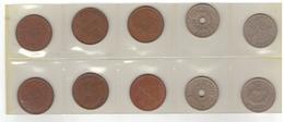 10 Norwegian Coins : 5 øre And 1 Krone. Different Years. - Noorwegen