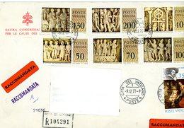 °°° Raccomandata Affrancata Con Serie Musei Vaticani + Rubens °°° - Lettres & Documents