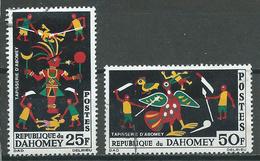 Dahomey YT N°219-220 Tapisseries D'Abomey Oblitéré ° - Benin - Dahomey (1960-...)