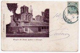 GREECE - SALONIQUE/SALONICCO MOSQUEE DES DOUZE APOTRES / AUSTRIA POST OFFICE CANCEL 1901 - Grecia