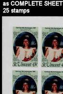 ST.VINCENT 1987 Carnival Dance Mask 45c IMPERF.COMPLETE SHEET:25 Stamps - St.Vincent (1979-...)