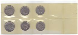 6 Italian  Coins : 50 And 100 Liras. Different Years. - 1946-… : République