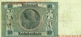 °°° 10 Reichsmark °°° - [ 3] 1918-1933 : Repubblica  Di Weimar
