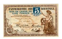 Wegnez 5 Francs - [ 2] 1831-... : Royaume De Belgique