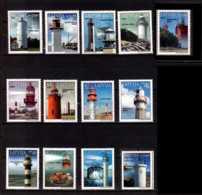 2003 -2018 Latvia - Lighthouses Of Latvia /Leuchttürme V. Lettland - All To Date Issued 13 V -paper -MNH** (gg) - Lettland