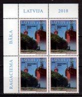 2018 Latvia - Lighthouses Of Latvia Ragaciems  Block Of 4  V -paper -MNH** (gg) MiNr. 1058 - Lettland