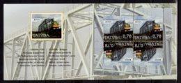 2018 Latvia - CEPT Europa Bridges - Trains - Booklet / MH Essen - MNH** MInr 1043 D (gg) - Lettland