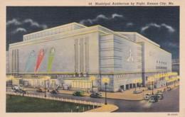 Missouri Kansas City Municipal Auditorium By Night 1940 Curteich - Kansas City – Missouri
