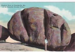 Missouri Graniteville Elephant Roch 1955 Curteich - United States