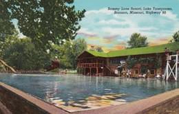 Missouri Branson Sammy Lane Resort Lake Taneycomo 1954 Curteich - Branson