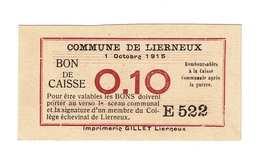 Lierneux 0,10Fr. - [ 2] 1831-... : Royaume De Belgique