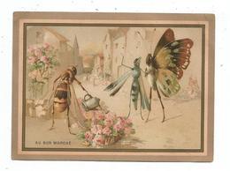 Chromo Grand Format - Papillon Et Guêpe - Au Bon Marché