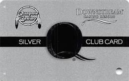 Downstream & Quapaw Casinos Quapaw OK - BLANK 8th Issue Slot Card - PG Over Mag Stripe - Downstream Outlined - Casino Cards