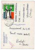 AFRIQUE EN COULEURS - COIFFURE AFRICAINE / WITH BENIN (DAHOMEY) THEMATIC STAMP-MITTERAND-KLOUEKANME' CANCEL 1985 - Benin