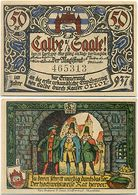 Calbe Saale, 1 Schein Notgeld 1917, Bild 1, Herstellung Vom Roland, Holzbildhauer - Lokale Ausgaben