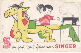 On Peut Tout Faire Avec SINGER - Buvards, Protège-cahiers Illustrés