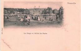 Trouville  La Plage Et L'Hôtel De Paris - France
