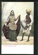 AK Hindustan Dancing Girl, Indische Tänzerin Und Trommler - Völker & Typen