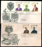 COLOMBIA- KOLUMBIEN - 1967.FDC/SPD. COLOMBIAN PERSONALITIES. SET X 2 COVERS - Colombia