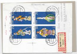 DDR FDC Reco Brief Apolda Land Mif. MI.2468-2471 Viererblock  L Mit Leerfeld - Briefe U. Dokumente