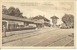 MOÇAMBIQUE - Lourenço Marques- Estação Do Caminho Ferro/Central Railway Station (Ed. J. J. Albino De Sousa) - Mozambique