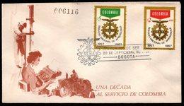 "COLOMBIA- KOLUMBIEN - 1967.FDC/SPD. "" SENA "" - NATIONAL APPRENTICESHIP SERVICE - Colombie"
