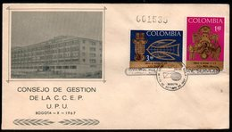 COLOMBIA- KOLUMBIEN - 1967.FDC/SPD. ARCHAELOGY, GOLD ARTIFACTS. SINGLE COVER - Colombia