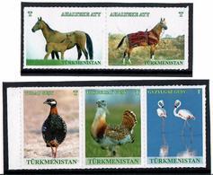 Turkmenistan. 2016 Definitives. Fauna, Birds... 5v X T - Turkménistan