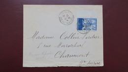 Lettre De Prez Sous Lafauche Haute Marne Timbre N° 565 ( Légion ) Seul Sur Lettre Janvier 1943 - Guerra De 1939-45