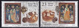 Serbia 2018 Slava Celebration Of Family Saint Patron's Day Religions Christianity Icons Bread Food Seal Set MNH - Serbie