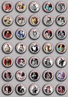 35 X Stevie Ray Vaughn Music Fan ART BADGE BUTTON PIN SET 1 (1inch/25mm Diameter) - Musique