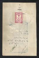 Saudi Arabia Old Revenue Stamps On Used Passport Visas Page - Arabie Saoudite