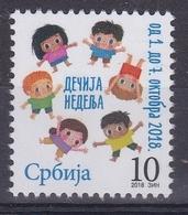 Serbia 2018 Children Week, Tax, Charity, Surcharge Stamp MNH - Serbie