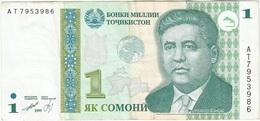 Tayikistán - Tajikistan 1 Somoni 1999 Pick 14A Ref 1 - Tadjikistan