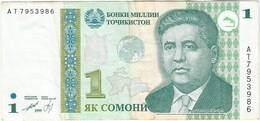 Tayikistán - Tajikistan 1 Somoni 1999 Pick 14A Ref 1 - Tayikistán