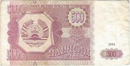 Tayikistán - Tajikistan 500 Rubles 1994 Pick 8a Ref 3 - Tayikistán