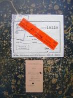 2 Train Tickets-Jugoslavia   (4001) - Autres
