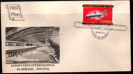 COLOMBIA- KOLUMBIEN - 1966.FDC/SPD. AVIATION. HISTORY OF THE COLOMBIAN AVIATION-JET BOEING 727 - Colombia