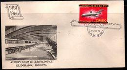 COLOMBIA- KOLUMBIEN - 1966.FDC/SPD. AVIATION. HISTORY OF THE COLOMBIAN AVIATION-JET BOEING 727 - Colombie