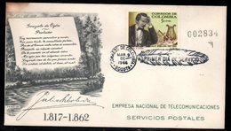 COLOMBIA- KOLUMBIEN - 1966.FDC/SPD. JULIO ARBOLEDA, POET. - Colombia