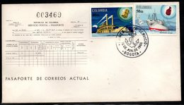 COLOMBIA- KOLUMBIEN - 1966.FDC/SPD. SHIPS- HISTORY OF THE COLOMBIAN NAVIGATION.SINGLE  COVER - Colombia
