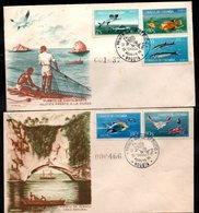 COLOMBIA- KOLUMBIEN - 1966.FDC/SPD. FISHS - SCARCE COMPLETE SET X 2 COVERS. - Colombia