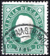 Cape Verde 1886 10r Green Perf 12½ Fine Used. - Cape Verde
